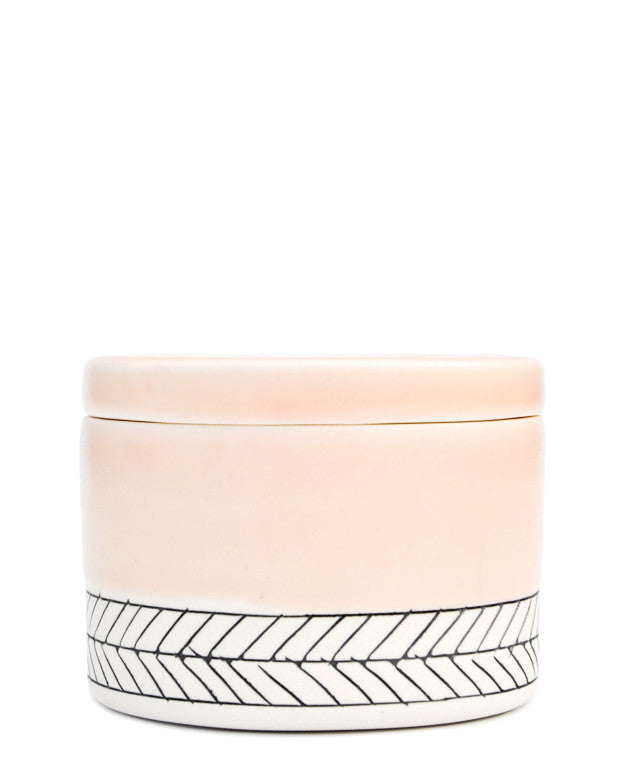 Peach: Herringbone Salt Cellar in Peach - LEIF