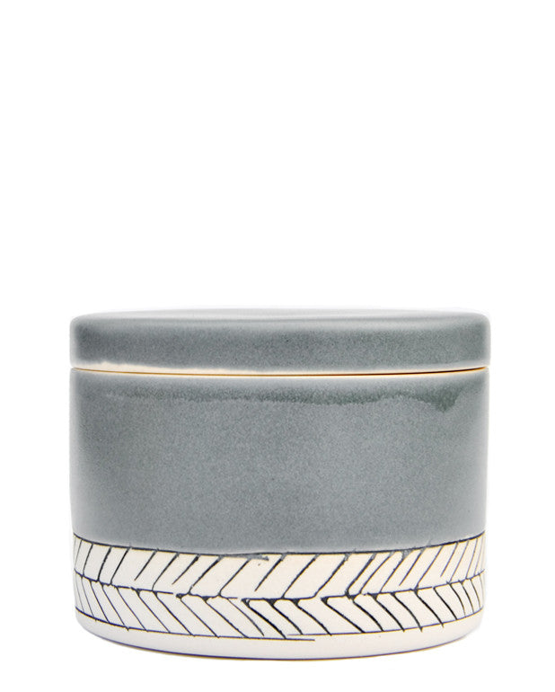 Storm: Herringbone Salt Cellar in Storm - LEIF
