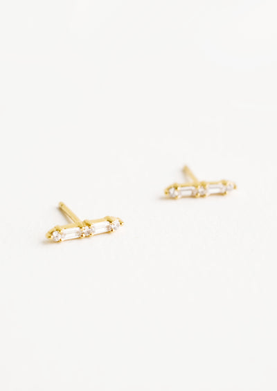 Virtue Baguette Stud Earrings