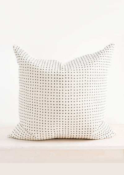 Embroidered Cross Pillow