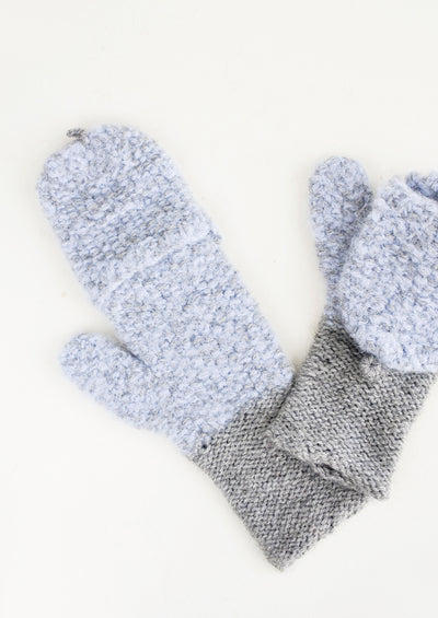 Seed Knit Alpaca 2-Way Mittens