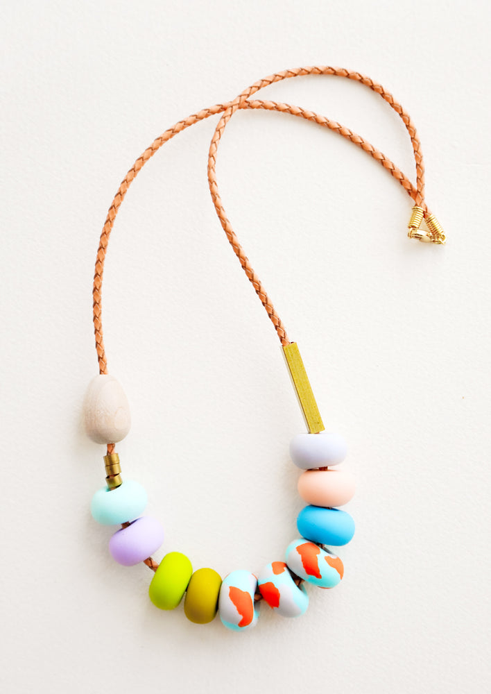 1: Evie Mixed Bead Necklace in  - LEIF