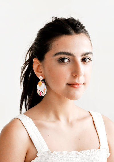 Marbled Drop Earrings hover