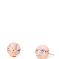 Apricot: Marmo Marble Stud Earrings - LEIF
