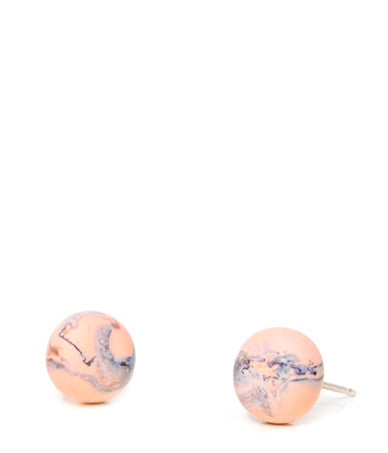 Marmo Marble Stud Earrings