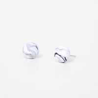 White: Marmo Marble Stud Earrings - LEIF