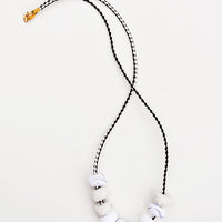 Grey: Marbled Marmo Necklace in Grey - LEIF