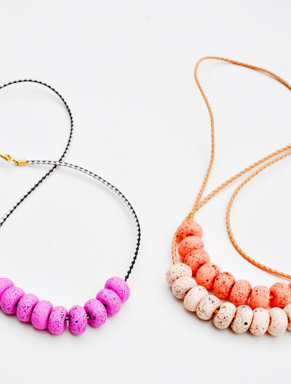 3: Speckled Messina Necklace in  - LEIF