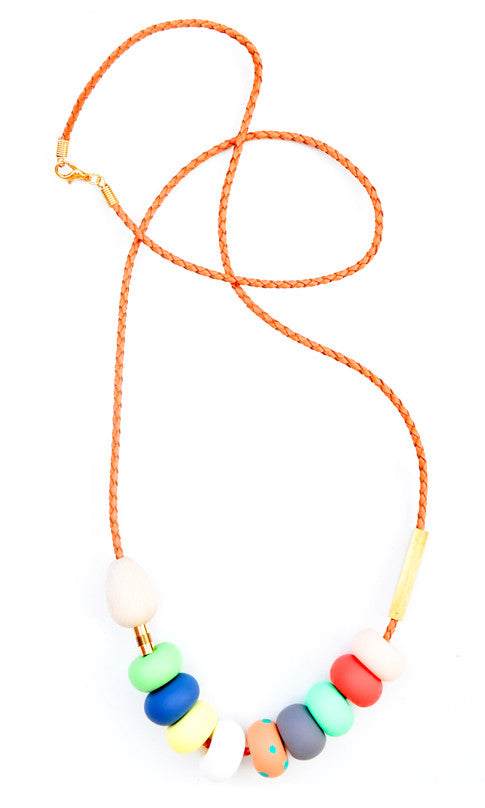 Peach Polka Necklace - LEIF