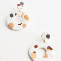White Nude Multi: Emma Jean Earrings in White Nude Multi - LEIF