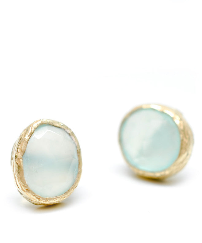 Textured Frame Stud Earrings - LEIF