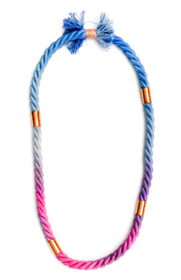 Dip Dye Rope Necklace - LEIF