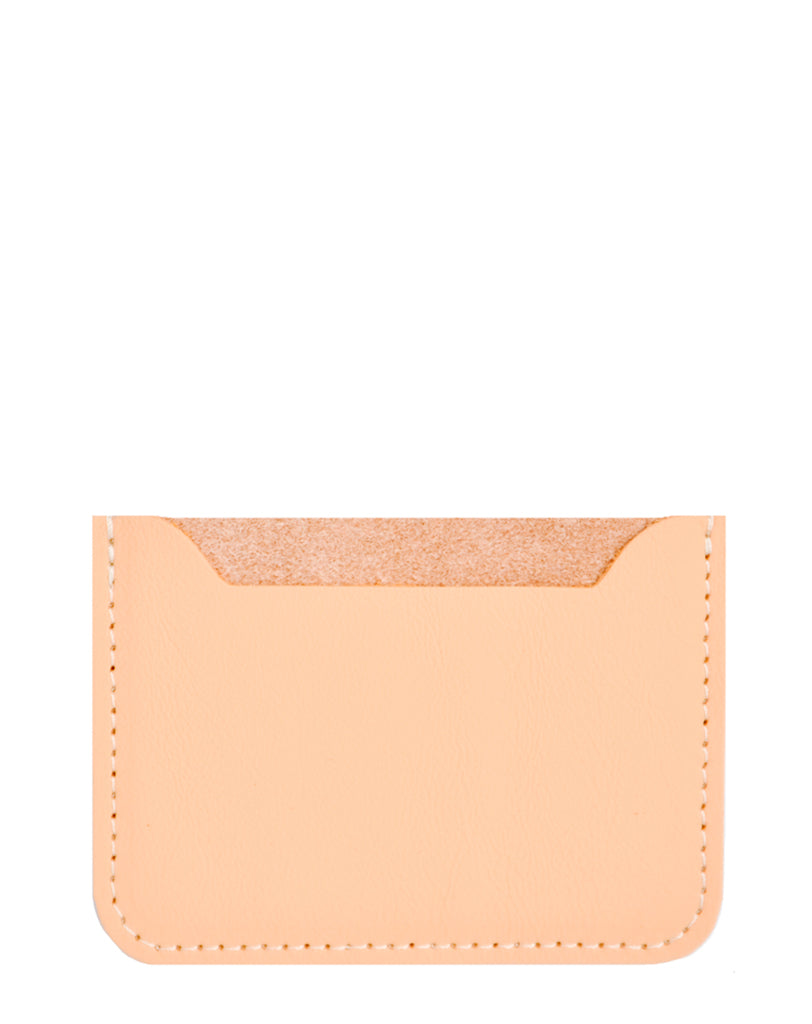 Natural Peach: Essential Leather Card Holder in Natural Peach - LEIF