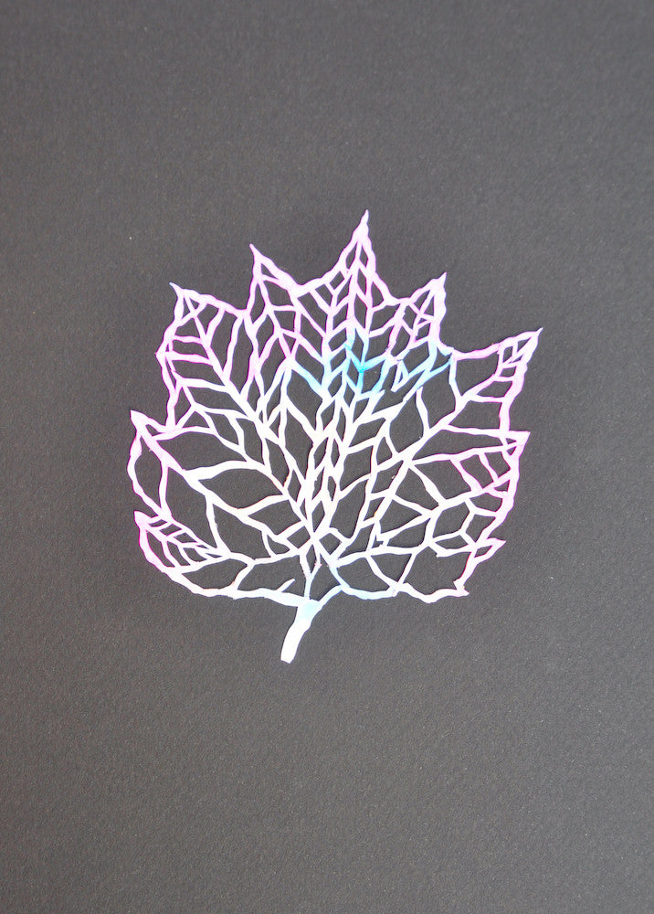 Paper Cut Painted Leaf, Black - LEIF