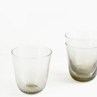 Smoked Glass Etched Cup in  - LEIF