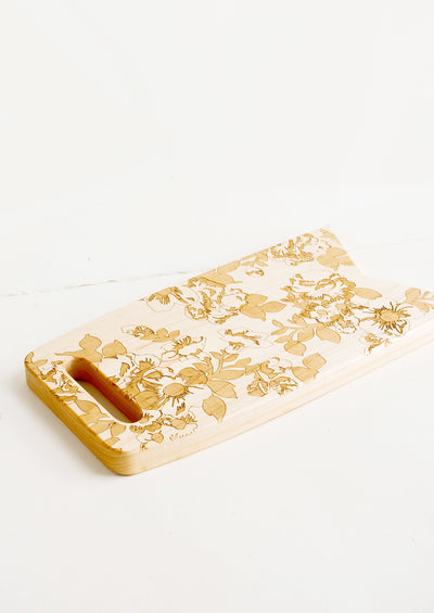 Etched Floral Cutting Board hover