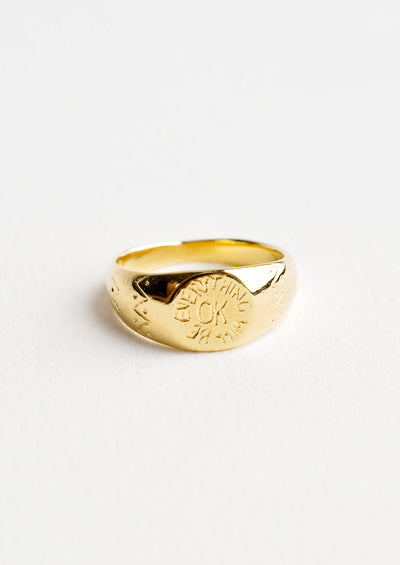 Everything Will Be Ok Signet Ring