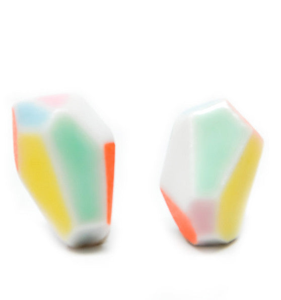 Porcelain Facet Earrings - LEIF