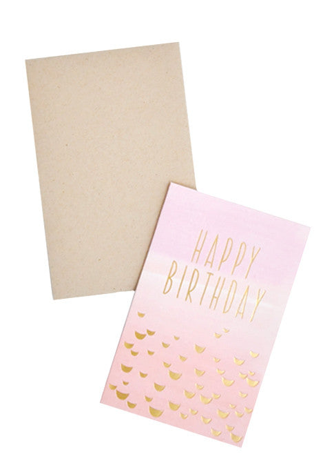 Happy Birthday Fade Card - LEIF