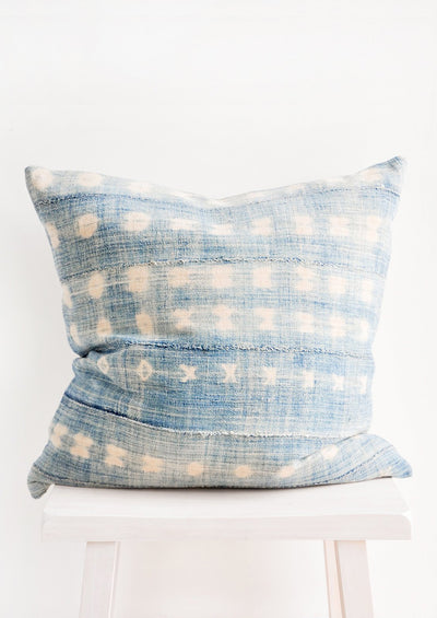 Vintage Faded Indigo Pillow