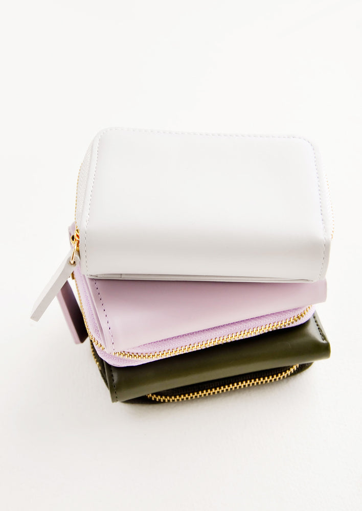 3: Product shot showing multiple colors of wallet.