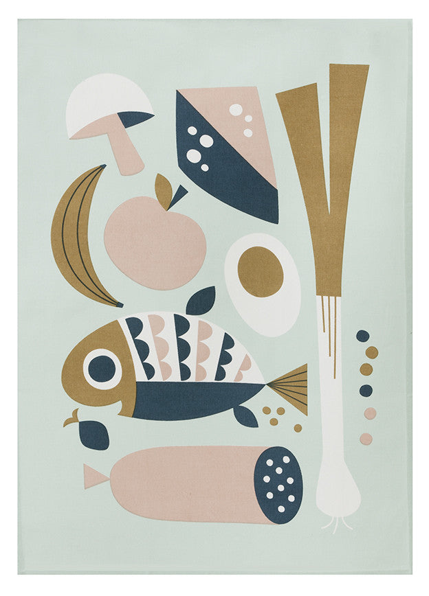 Nordic Grocery Tea Towel - LEIF