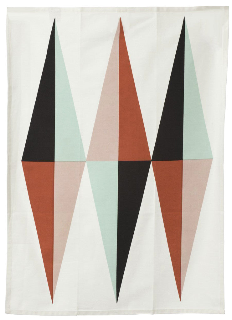 Spear Tea Towel in Coral - LEIF