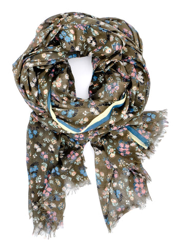 Field Floral Cotton Scarf