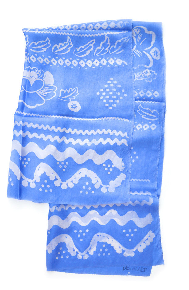 Fiesta Silk Scarf in Cornflower - LEIF