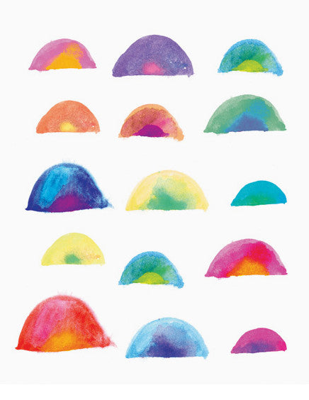 Watercolor Rainbows Print - LEIF