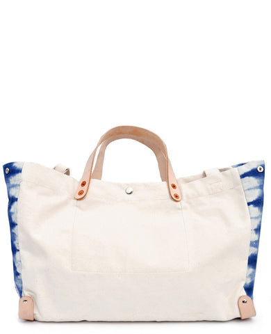 East-West Canvas & Indigo Tote