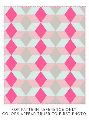 Neon Triangles Fleece Blanket