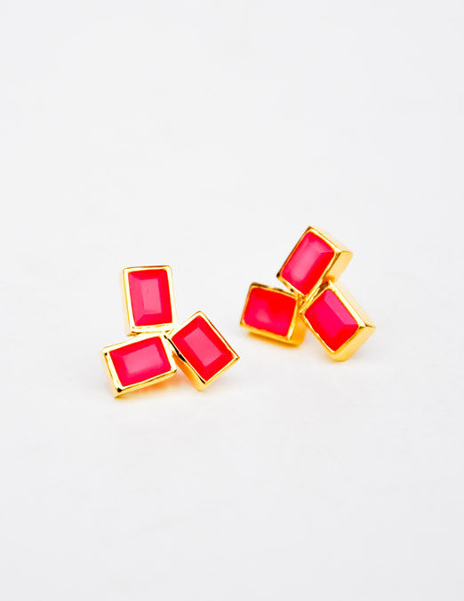 Floating Blocks Stud Earrings - LEIF