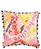 Floral Garland Tassel Trim Pillow - LEIF