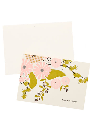 Floral Scene Thank You Card Set