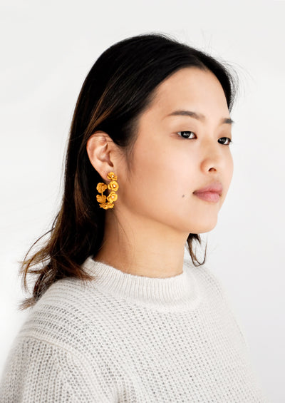 Floral Society Hoop Earrings