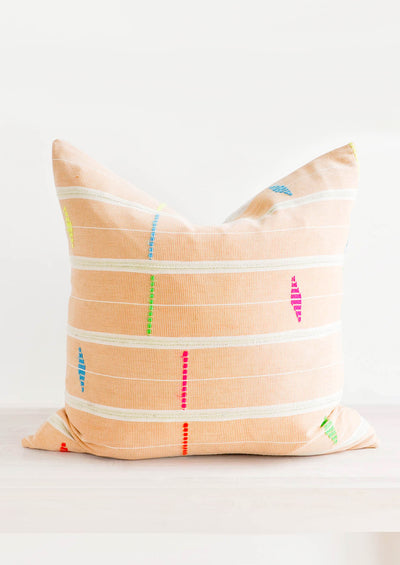 Fluoro Strip Cloth Pillow in  - LEIF