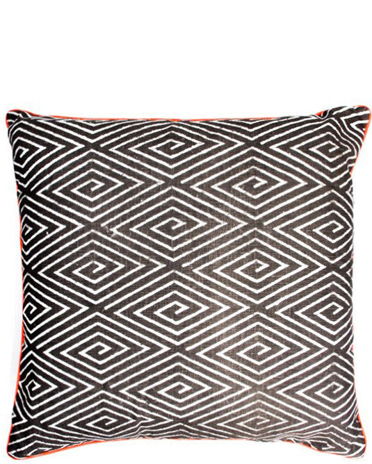 Fluoro Trim Geo Pillow, 20""