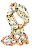 Fly Away Oblong Silk Scarf - LEIF