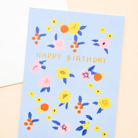 1: Folk Floral Birthday Card in  - LEIF
