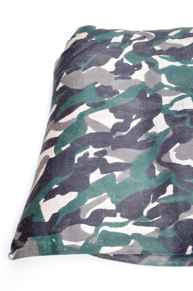 Forest Floor Camo Wool-Silk Scarf