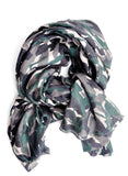 Forest Floor Camo Wool-Silk Scarf - LEIF