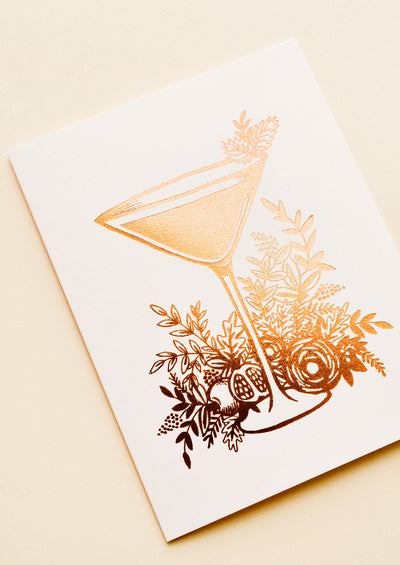 Botanical Cocktail Blank Card hover