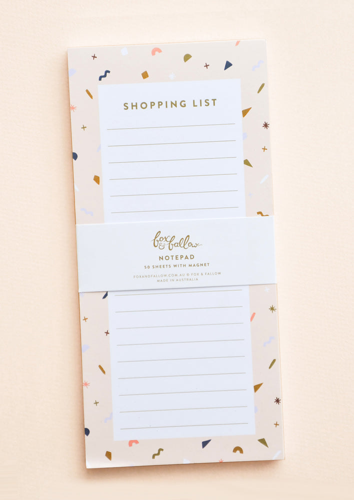 1: Confetti Shopping List Notepad in  - LEIF