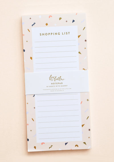 Confetti Shopping List Notepad