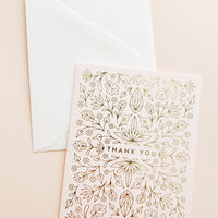 Egyptian Floral Thank You Card Set