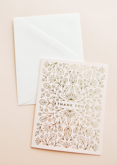 Egyptian Floral Thank You Card Set hover