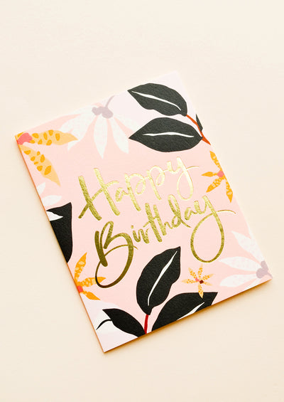 Jungle Flora Birthday Card hover
