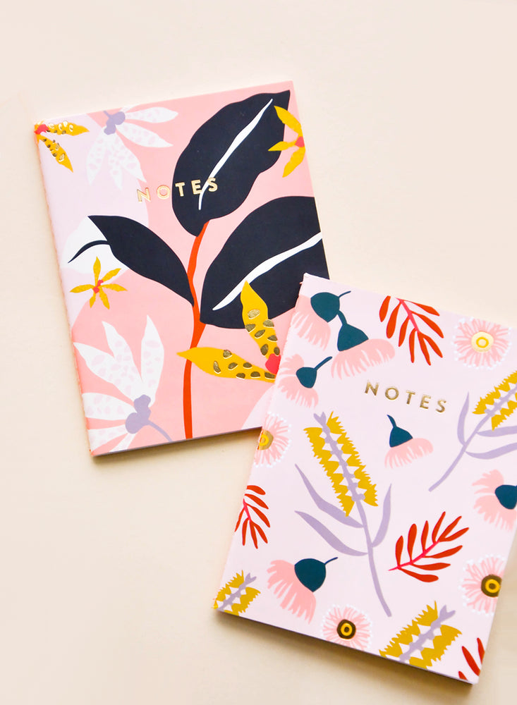 Pocket Notebook Duo in Jungle Flora - LEIF