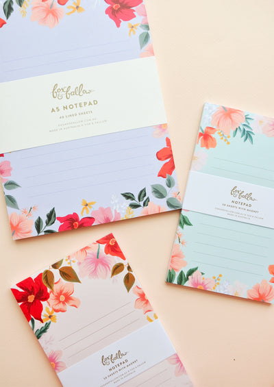 Melbourne Floral Notepad in  - LEIF